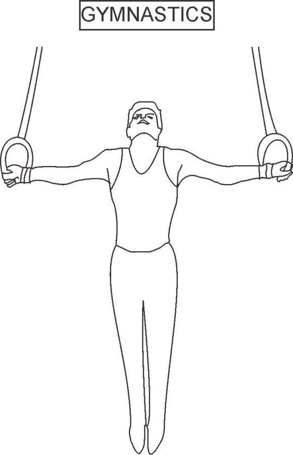 Coloring Pages For Kids Gymnastics Sport Gymnastics fair - new coloring page of a hockey player