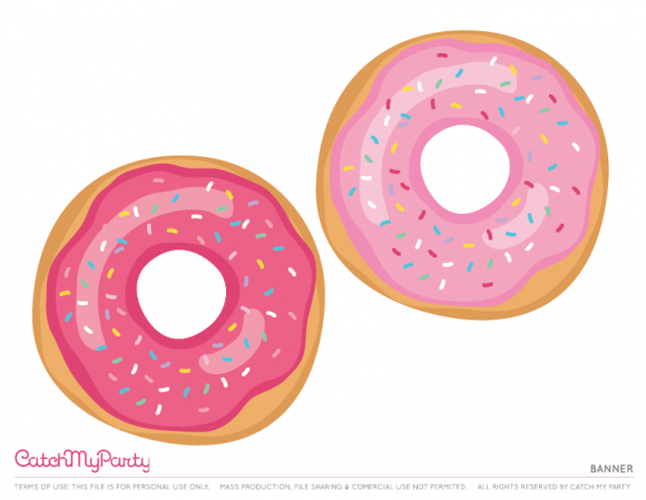 picture about Donut Printable identify No cost Donut Get together Printables Banner
