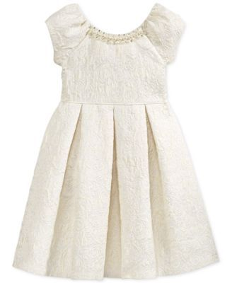 Bonnie Jean Little Girls' Brocade A-Line Dress | Small Wedding ...