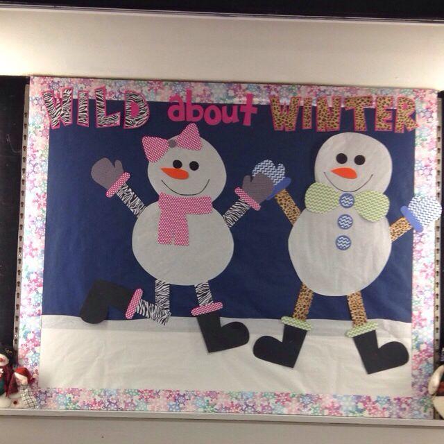 Wild About Winter Snowman Bulletin Board Display Boards
