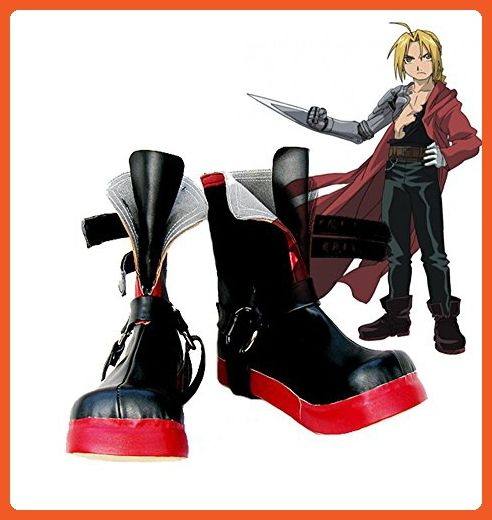 Fullmetal Alchemist Edward Elric Cosplay Shoes Boots Custom Made 3