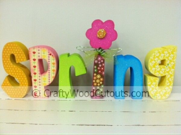 Small spring letter set wood cutouts letter set and crafty craft small spring letter set for 1799 from crafty wood cutouts sciox Images