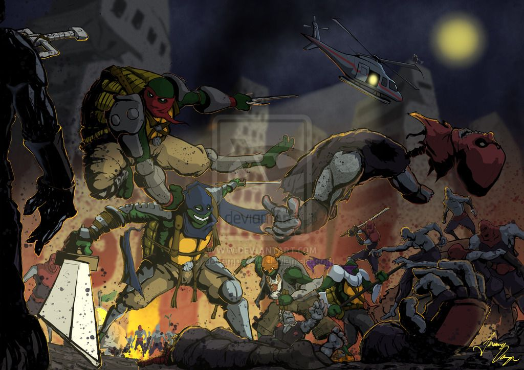 TMNT vs Foot Soldiers of the Walking Dead by Jocampo770.deviantart.com on @deviantART
