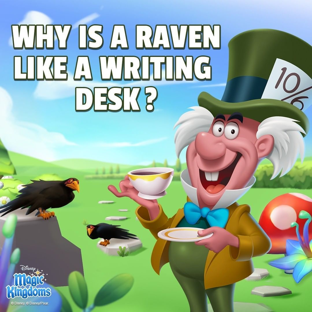 Why is a raven like a writing desk? Share your answer