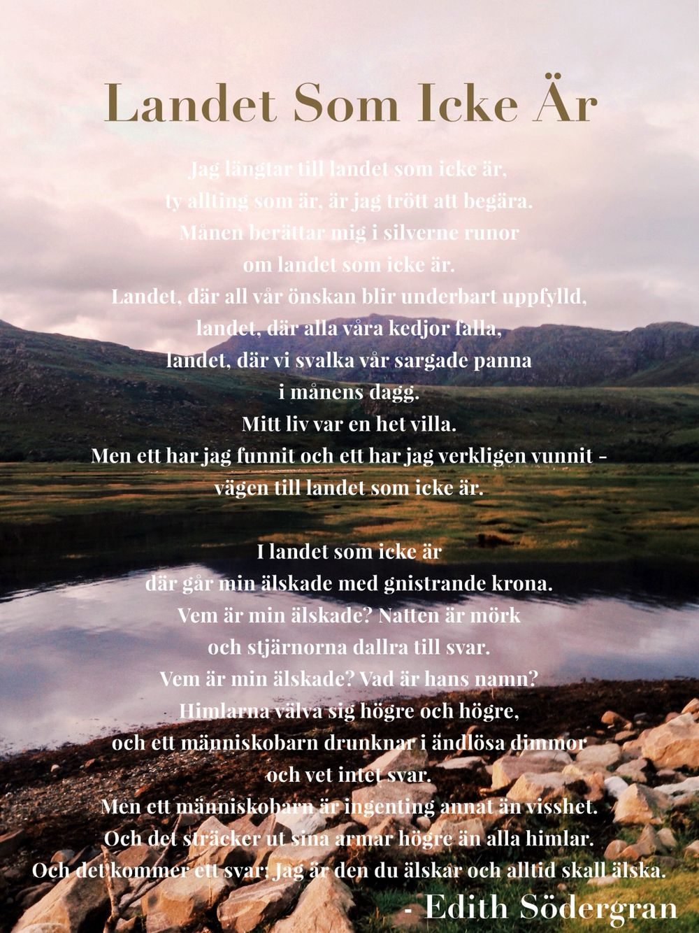 Edith Sodergran Citat Dikter Runor