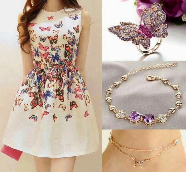 Vestido mariposa