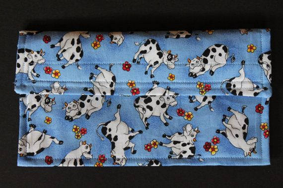 Adorable Blue Cow Print Coupon Holder / Organizer by couponcountry