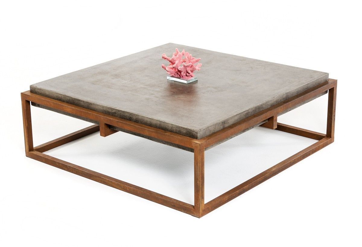 Modrest Shepard Modern Concrete Coffee Table Solid Coffee Table Coffee Table Living Room Coffee Table [ 821 x 1200 Pixel ]