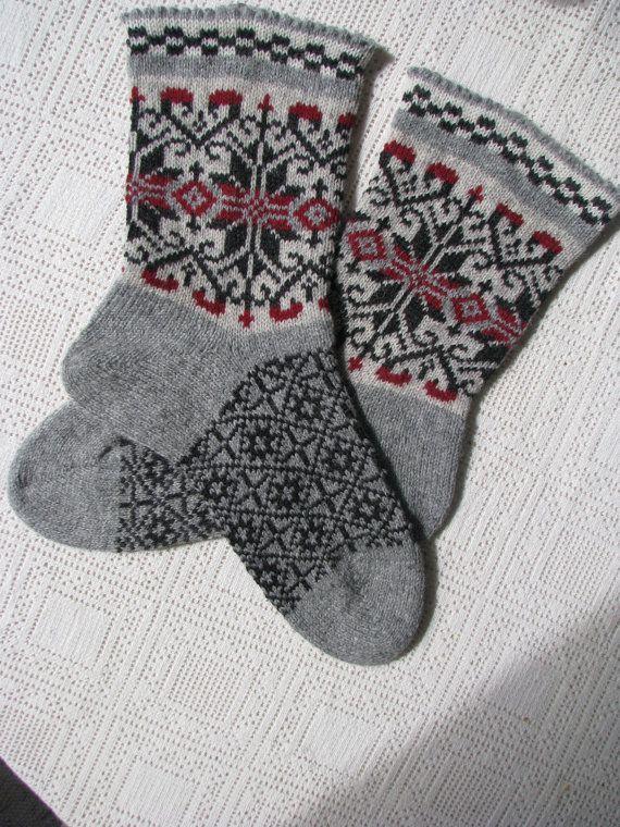 Socken für Männer stricken Socken Wollsocken Weihnachten Winter ...