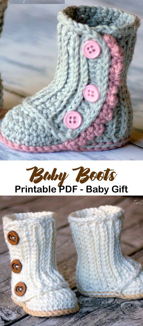 Make a cute pair of baby boots. baby boots crochet patterns - baby shoes crochet pattern- baby booties- amorecraftylife.com #crochet #crochetpattern #diy #baby #babycrochet #crochetbabyboots