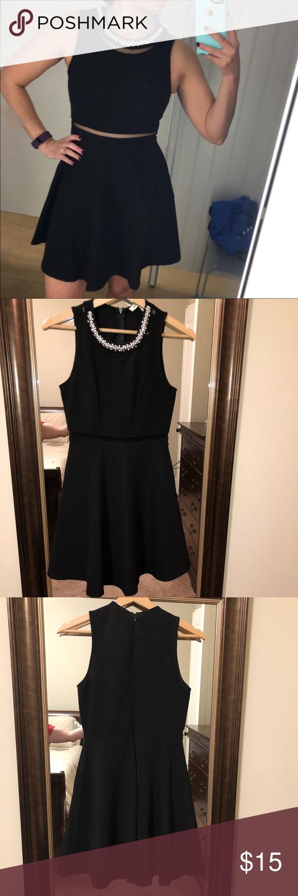 Monteau Little Black Dress With Pearls Black Dress Little Black Dress Black Dress With Pearls [ 1740 x 580 Pixel ]