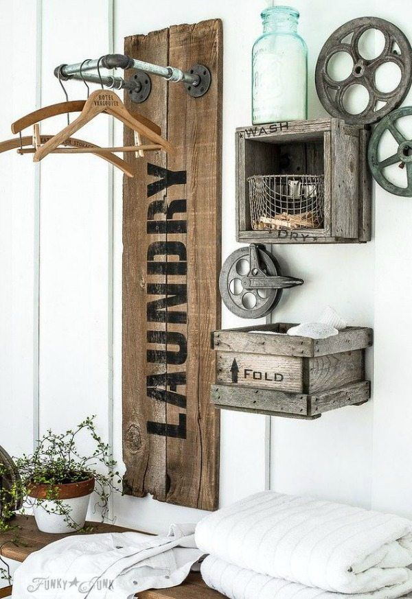 Superbe Rustic Laundry Hangup, Rustic Home Decor Ideas Via Refresh Restyle  Http://refreshrestyle