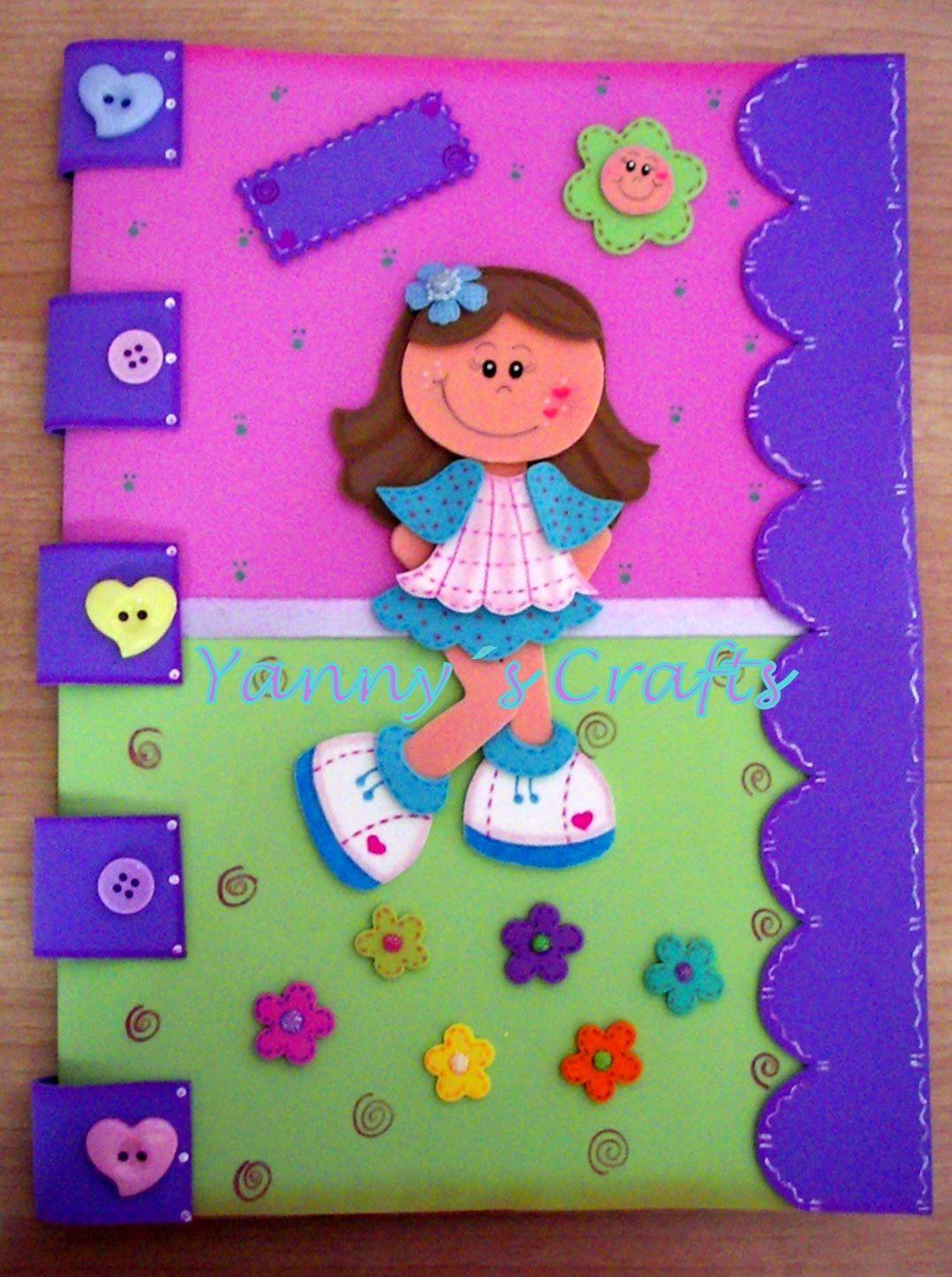 Yanny s crafts carpeta decorada fofuchas planas - Goma eva decorada ...