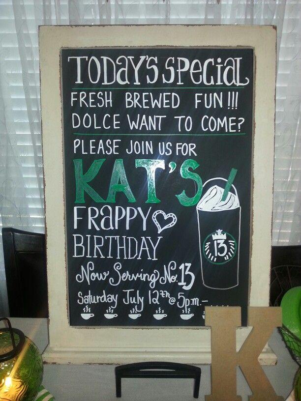 Starbucks birthday party