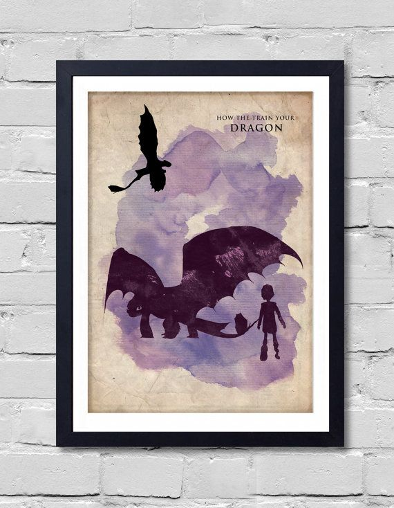 How to train your dragon poster by postershot on etsy how train items similar to how to train your dragon ccuart Image collections