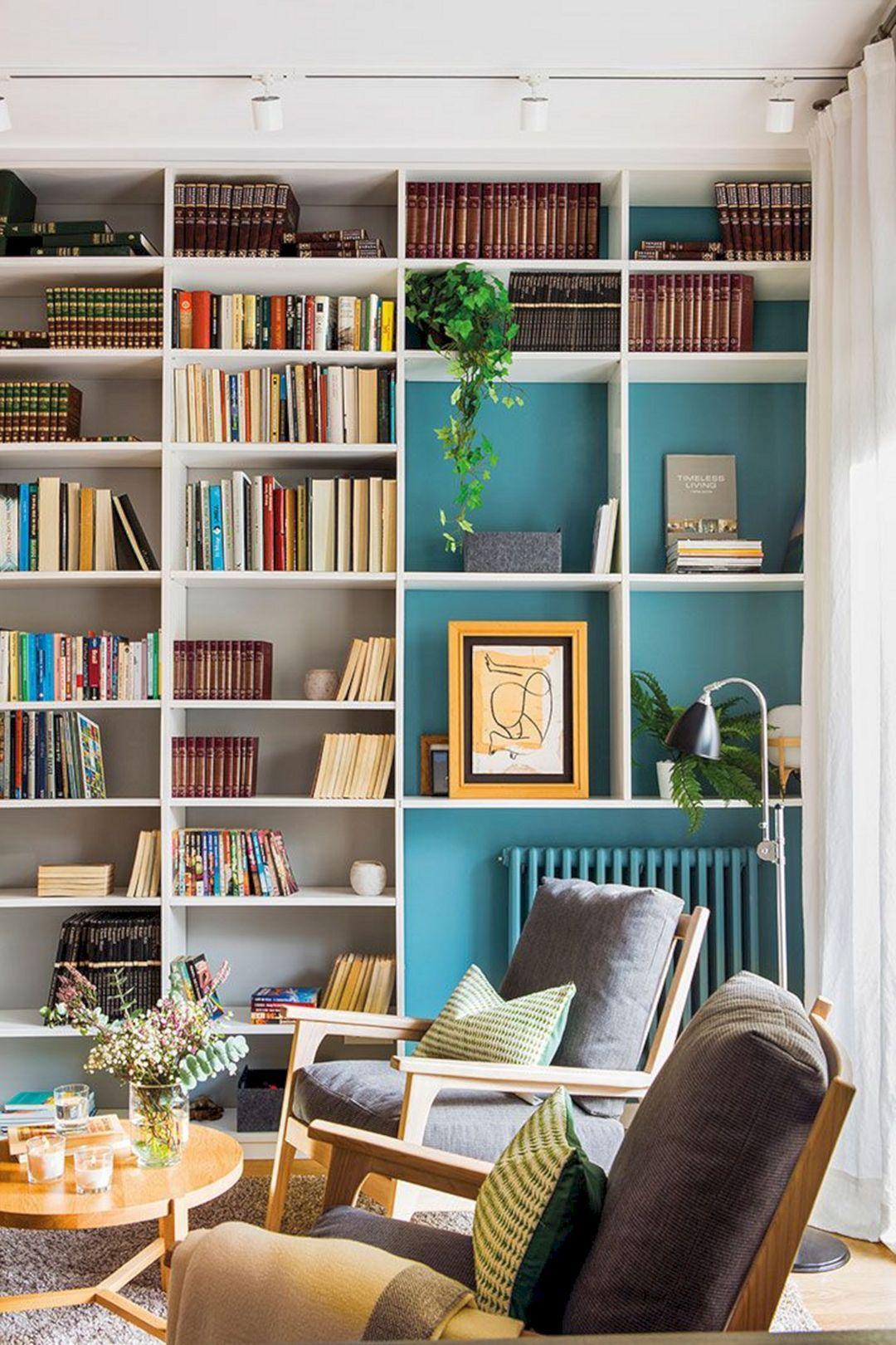 10 Incredible Bookcase Decoration Ideas For Beautiful Living Room Beautiful Living Rooms Bookcase Wall Minimalist Bookshelves Beautiful living room bookshelf
