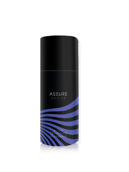 Assure Active for men is an invigorating, refreshing fragrance with natural extracts that provides powerful odour protection all day long.