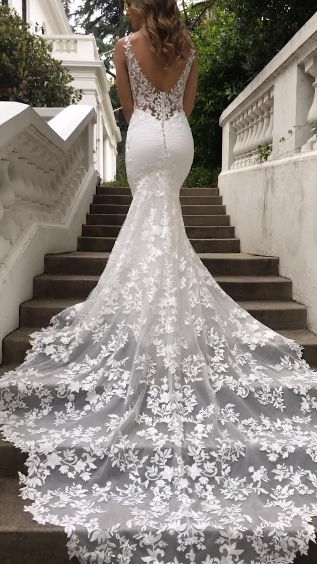 Malia Blue By Enzoani Blue Brollopsklanning Enzoani Wedding Dresses Lace Ballgown Fairy Tale Wedding Dress Spring Wedding Dress [ 1920 x 1080 Pixel ]