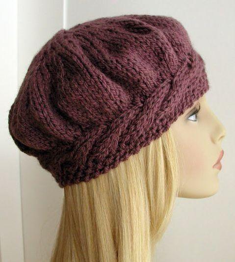 Beret Knitting Patterns Hats Knit Knitted Hats