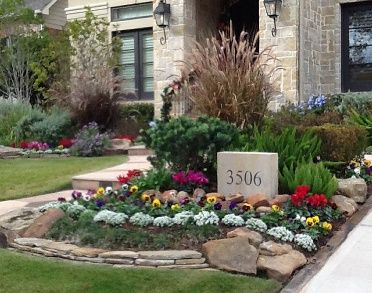 houston garden design softscape ornamental planting