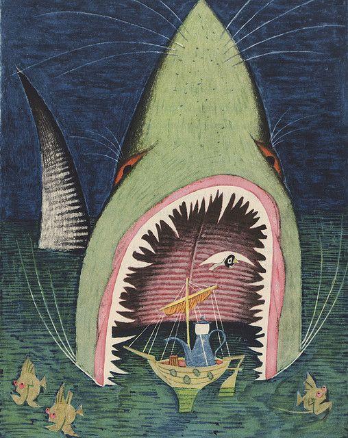 Historien Om Fire Born En Missekat Og En Kvanki Vanki Edward Lear Illus Ungermann 1950 Illustration Art Art Animal Art
