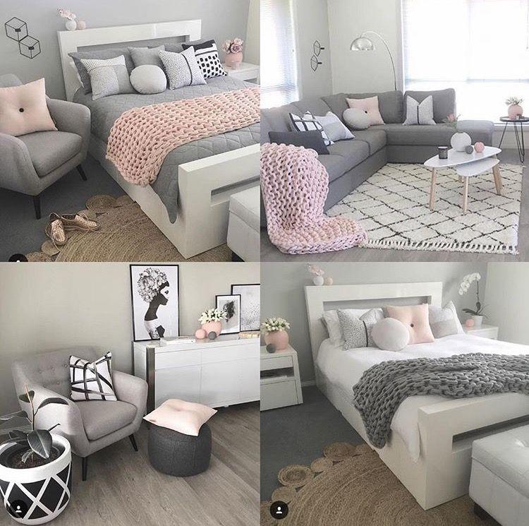 Soft Pink Gray So Soothing Ideias De Decoracao De Quartos