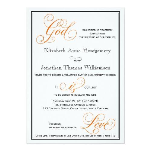 Elegant God Is Love Christian Wedding Invitation Zazzle Com Christian Wedding Invitations Christian Wedding Invitation Wording Christian Wedding