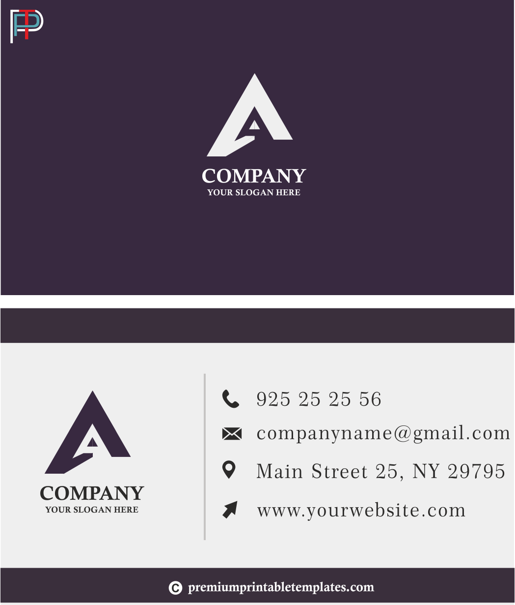Business Card Purple A Standard Business Card Is 23 Inches It