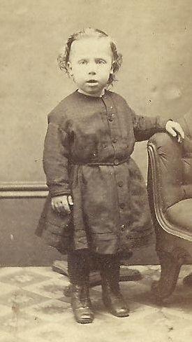 CDV Photo Cute Little Boy in Dress Civil War Era Chicago by Fred ...