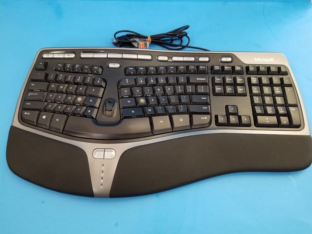 Microsoft Natural Ergonomic Keyboard 4000 V1 0 Black Wired Usb Keyboard Microsoft Grab Bags Ebay Keyboard