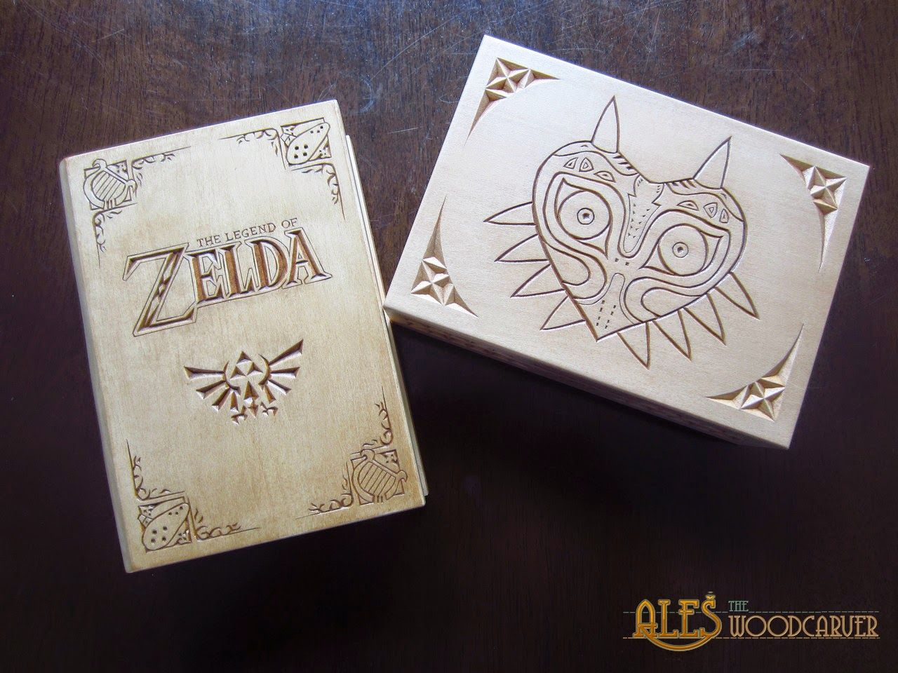 Legend of zelda trinket boxes chip carved wood carving