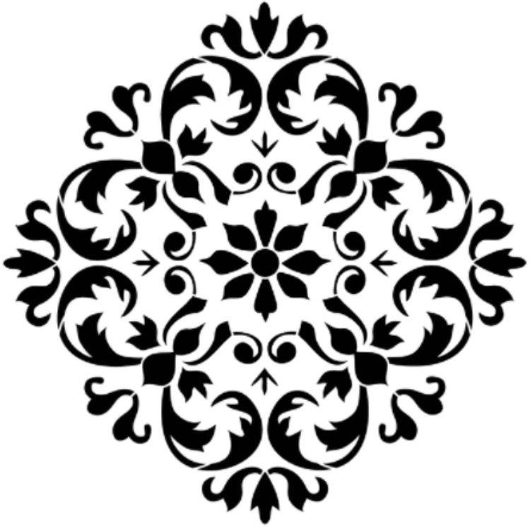 Patrones decorativos | stencil | Pinterest | Schablone, Muster und Nähen