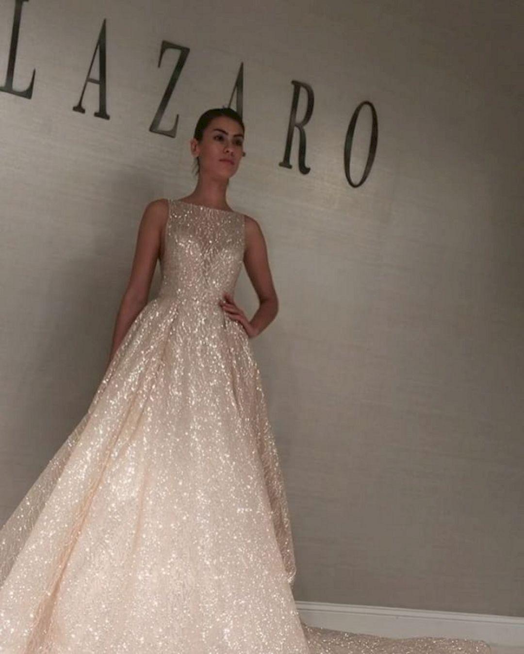 Fall lazaro wedding dress ideas in 2020 sparkle wedding