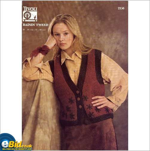 Ladies waistcoat jacket knitting pattern for aran yarn tivoli ladies waistcoat jacket knitting pattern for aran yarn tivoli patterns 2156 on ebid united kingdom dt1010fo