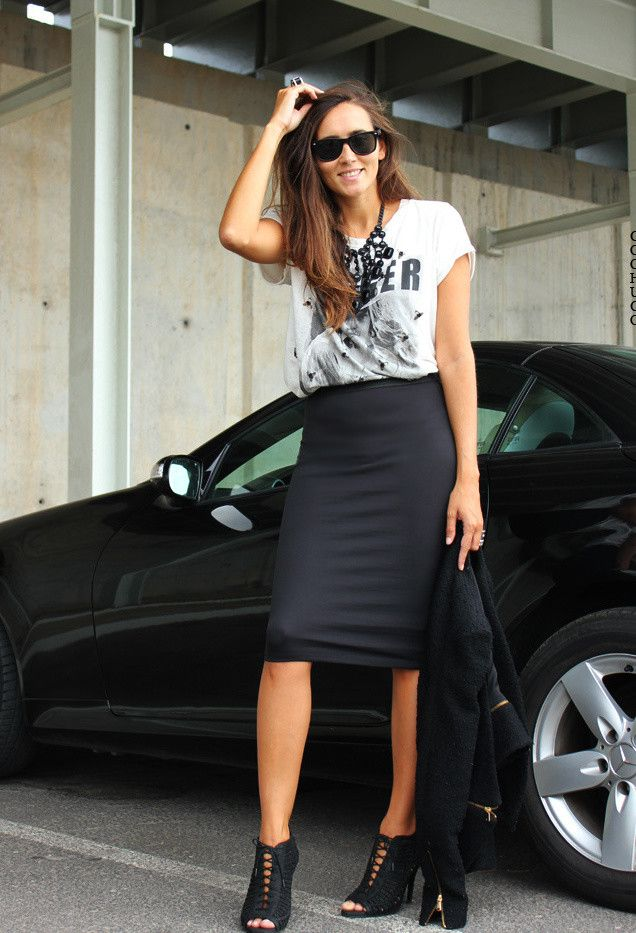 7d81c04545 14 Ways to Rock the Style of Pencil Skirts in 2019 | Outfit ideas ...
