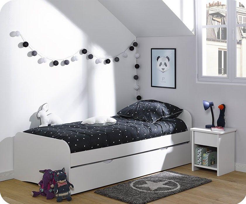 Das Ausziehbett Twist 90x190 Cm In Weiss Fur Kinder Entdecken Sie Unsere Sammlung An Kinderbetten Und Kinderzimmer In Frankrei Meisjeskamer Kinderbed Interieur