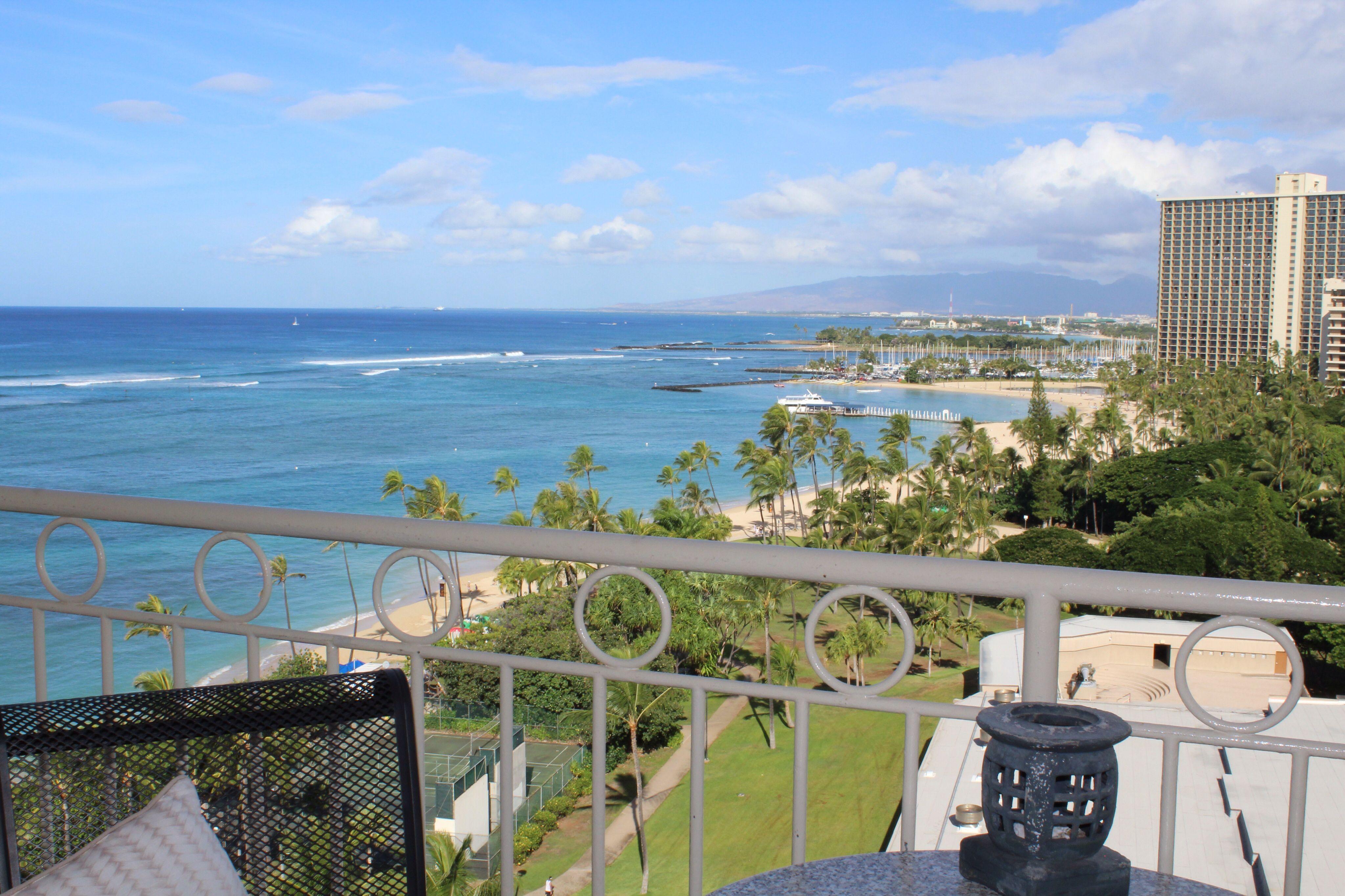 View from our condo on waikiki beach waikiki beach