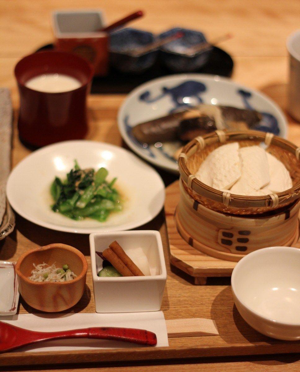 Japanese breakfast at touzan kyoto hyatt