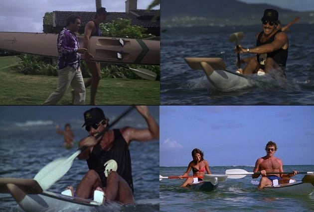 Magnum PI With His Hayden Surfski Pulling The Ladies
