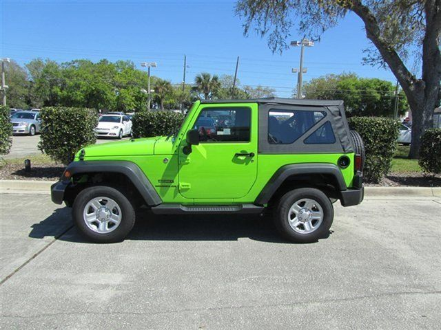 2012 gecko pearl jeep wrangler sport 4x4 suv lime green. Black Bedroom Furniture Sets. Home Design Ideas