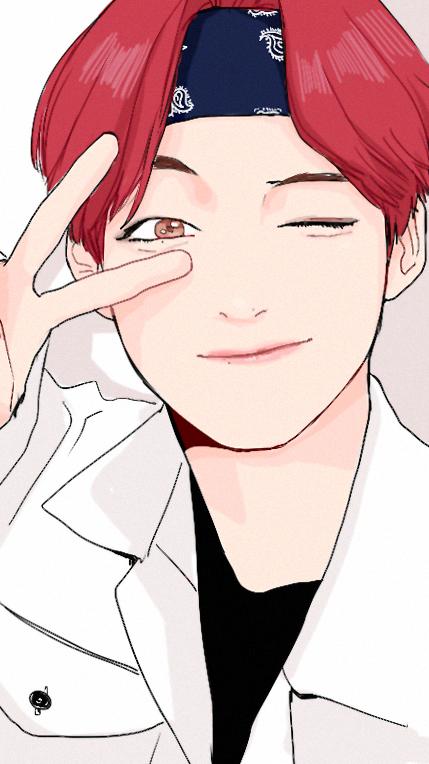 V fan art kim taehyung♡ Pinterest Fan art, Fans and BTS