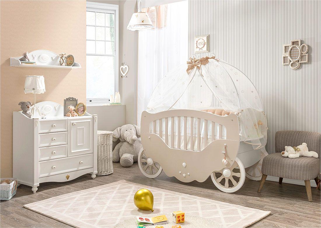 10 chambres d'enfant inspirées de cendrillon | lit carrosse