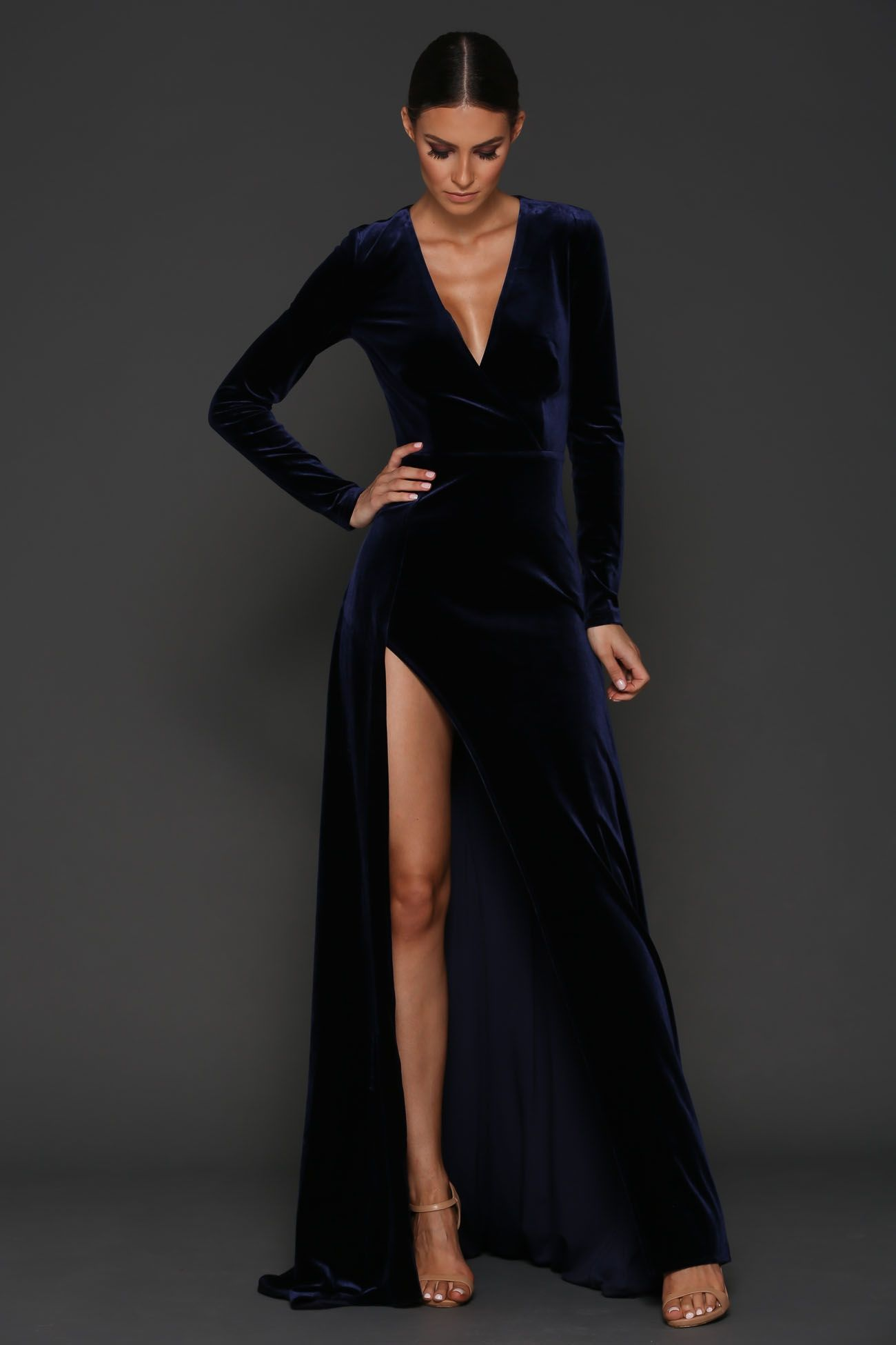 Pre-Order Fontaine Gown | Velvet gown, Full length dresses and Side ...