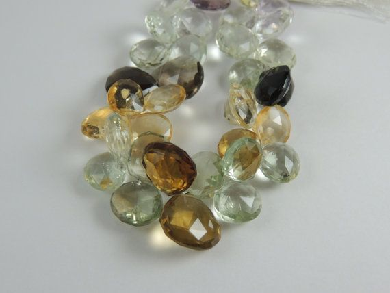 1/2 Strand  Multi Gemstone Faceted Heart by DistinctiveGemstones, $39.99