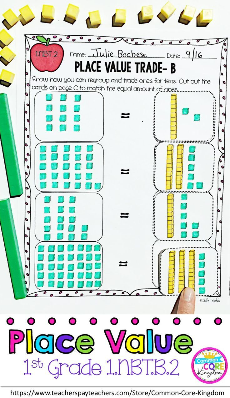 1st Grade Place Value Tens and Ones 1.NBT.B.2 1st