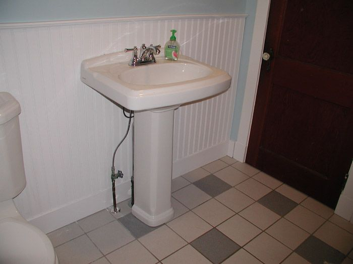 Ordinaire Pedestal Sink With Floor Drain