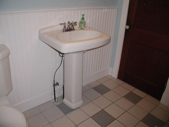 Installing A Pedestal Sink Help Needed Pedestal Sink Pedastal