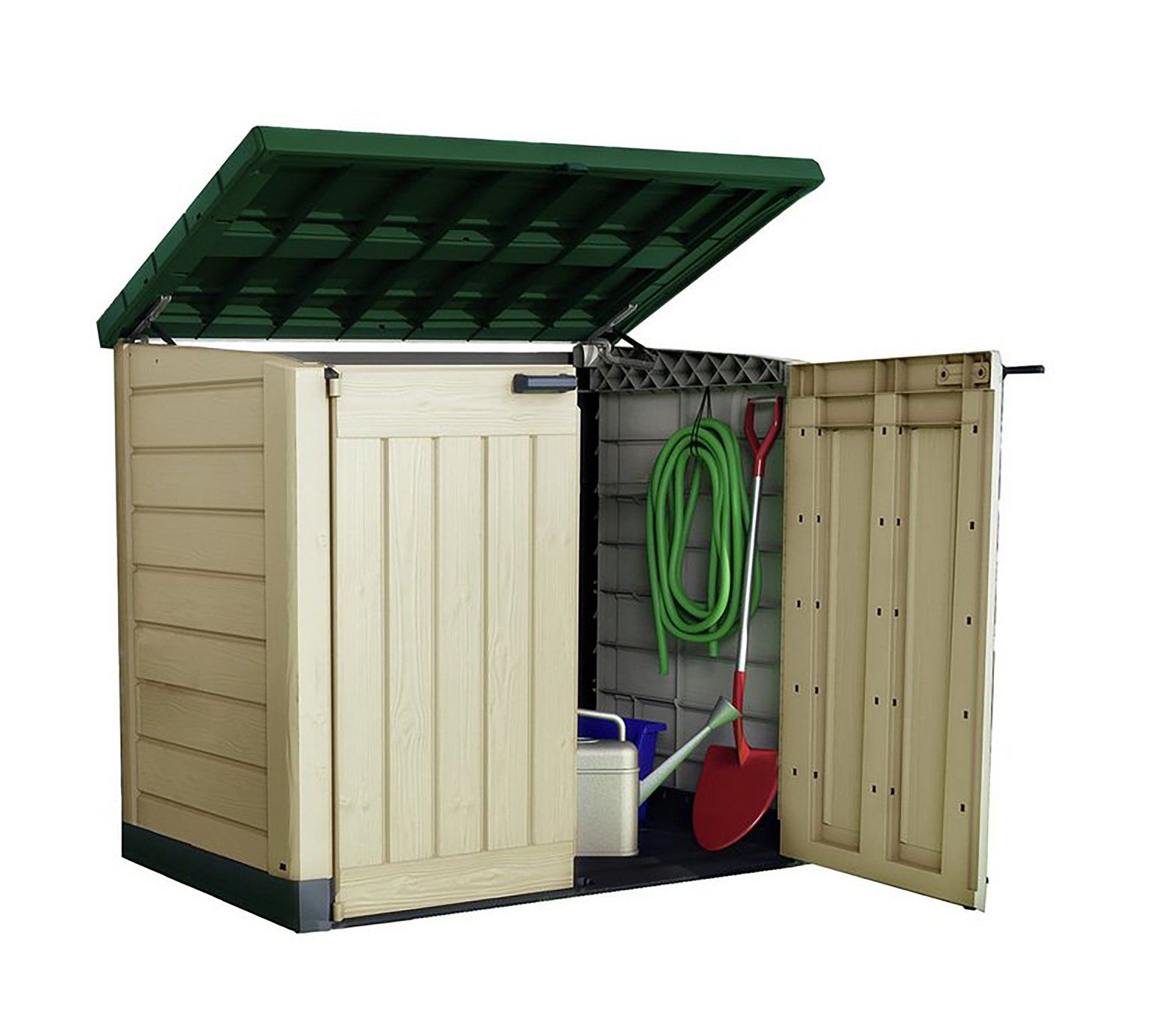 Keter Store It Out Max 1200L Storage Shed Beige/Green in