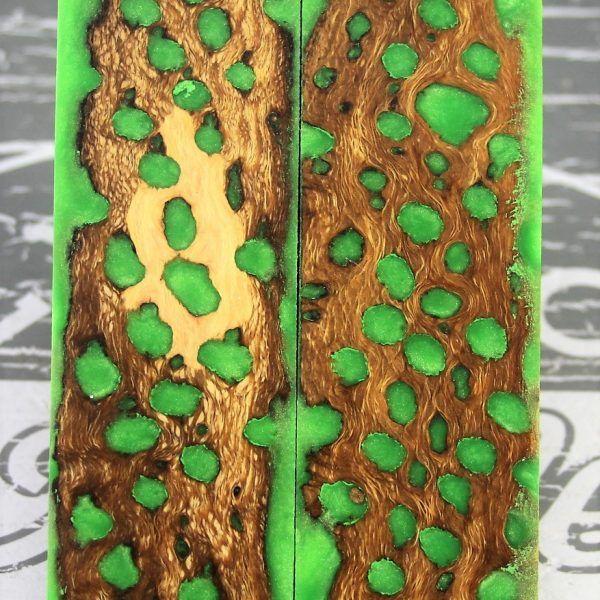 Toxic Green Cholla Cactus 2 | Knife Handle Material | Knife