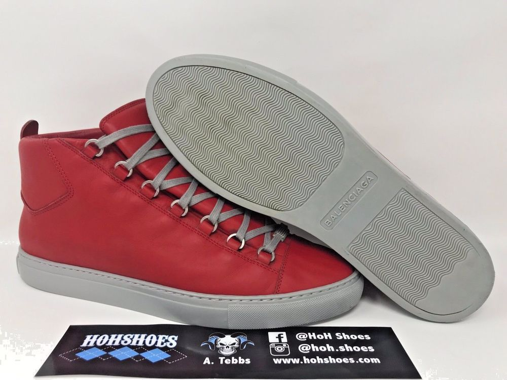 101bcf6f7cf4 Balenciaga Arena Red Grey High-Top Mens Shoe Sneaker Size US 12 EU 45   fashion  clothing  shoes  accessories  mensshoes  athleticshoes (ebay link)